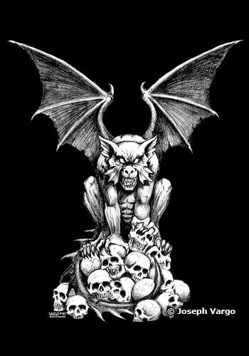 Gothic Stickers: Vampires, Gargoyles and Skulls Gothic Vampire